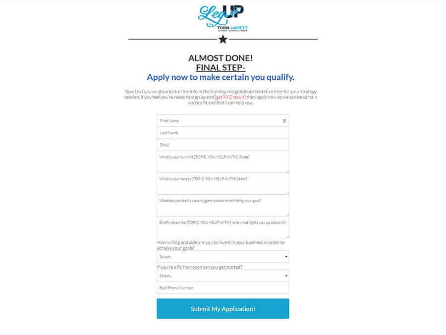 Automatic Sales Machine – Step 4 Page