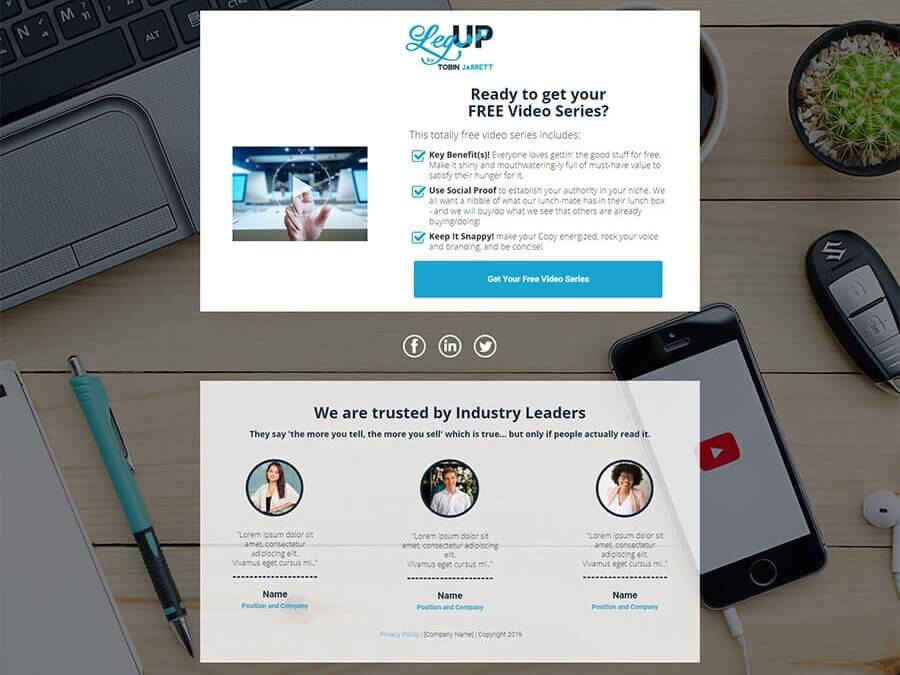 Evergreen PLF Launch Campaign – Opt-in Page B