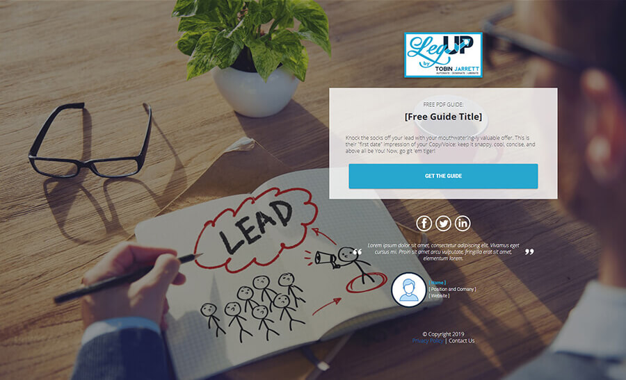 Lead Magnet List Builder – Free Guide Opt-in – Version C Page
